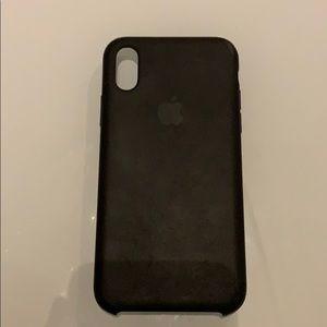 IPhone XS / X black silicone case